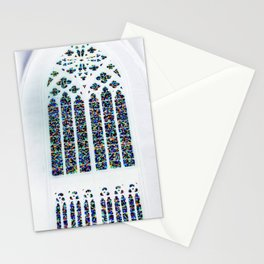 Cathedrale Mosaic window Stationery Cards