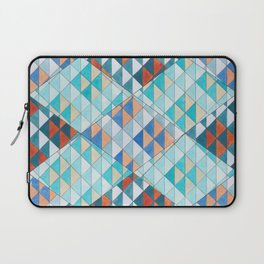 Triangle Pattern No.10 Shifting Turquoise and Orange Laptop Sleeve