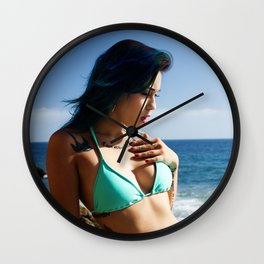 Jasmine Sue - Pacific Ocean Light Wall Clock