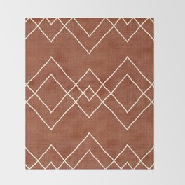 Nudo in Rust Throw Blanket