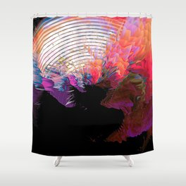 Nothingness Explodes Shower Curtain