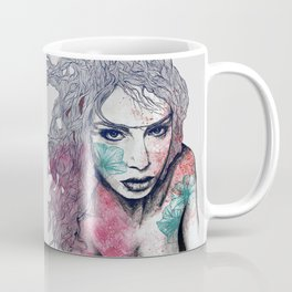 No Hope In Sight: Purple (tattoo girl portrait) Coffee Mug
