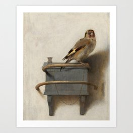 The Goldfinch Vintage Painting Art Print