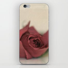 Single Rose fine art photography iPhone Skin