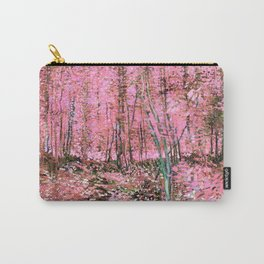 Pink Vincent Van Gogh Trees and Undergrowth 1887  Carry-All Pouch