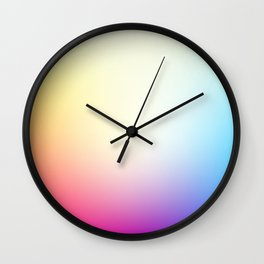 IRIS / Plain Soft Mood Color Blends / iPhone Case Wall Clock