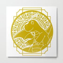 Stained Glass - Pokémon - Dragonite Metal Print