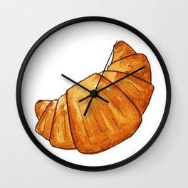 watercolor croissant Wall Clock