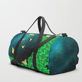 clover and butterflies Duffle Bag
