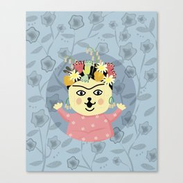 Peanut Dog_Frida Canvas Print