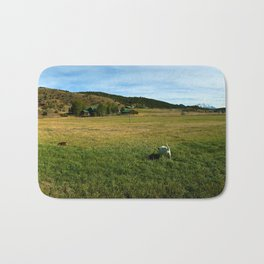 Mount Sopris and Puppies - Glenwood Springs, CO Bath Mat