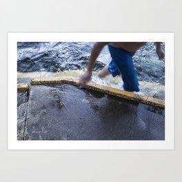 Poolside Reflection (2) Art Print