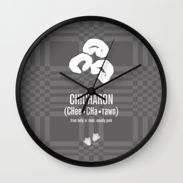 Chicharon (fried pork belly or rinds) Wall Clock