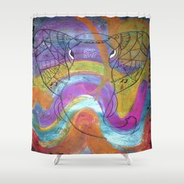 AleMivElephant Shower Curtain