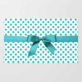 Blue Tiffany Polkadot Rug