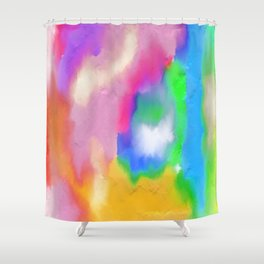 Colorful Paint Shower Curtain