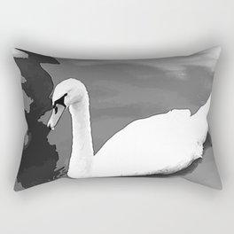 Duck in the water 3. duck. ducks. swan. swans. sea. beach. Rectangular Pillow