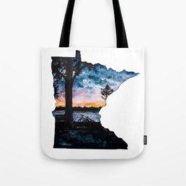 Minnesota State Silhouette Summer Tote Bag