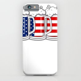 Beer American Flag 4th Of July USA Merica Drinking T-Shirt iPhone Case