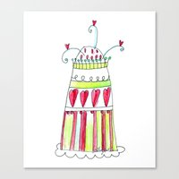 cake Canvas Prints featuring Cake by Stefania Morgante