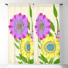 Three Fancy Flowers Blackout Curtain