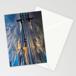HB Sunsets  1/6/16   /  Sunset At The Huntington Beach Pier Stationery Cards