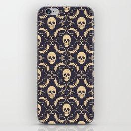 Happy halloween skull pattern iPhone Skin