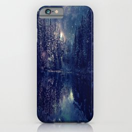 Winter Forest Deep Pastel iPhone Case