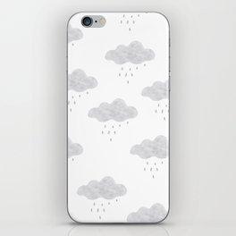 Rainy cloud iPhone Skin