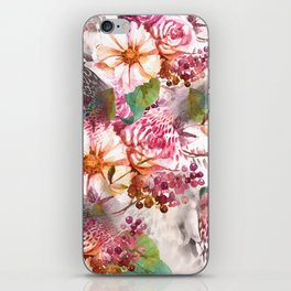 Animal flowers abstract iPhone Skin