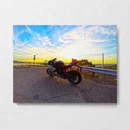 Sunset Rider Metal Print