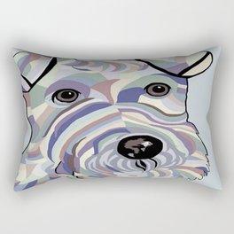 Wire Hair Terrier Denim Colors Rectangular Pillow