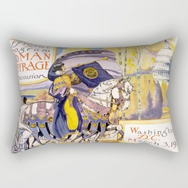 Woman suffrage procession March 3, 1913 Rectangular Pillow