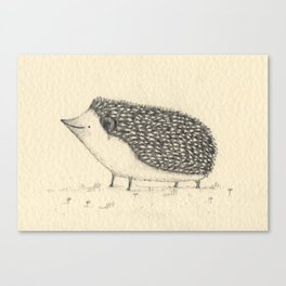 Monochrome Hedgehog Canvas Print