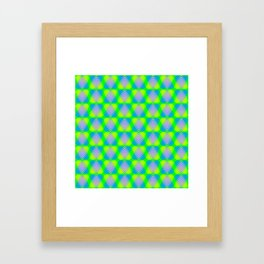 Triangular pattern of blue and purple hearts from stripes on a heavenly background in a bright inter Framed Art Print