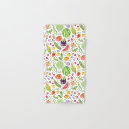 Summer Harvest Pattern Annotated Hand & Bath Towel