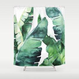 Tropical Banana Leaves Shower Curtain