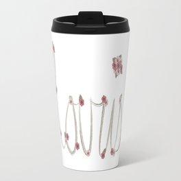 Flourish type Travel Mug