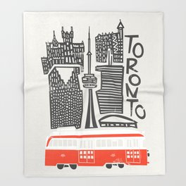 Toronto Cityscape Throw Blanket