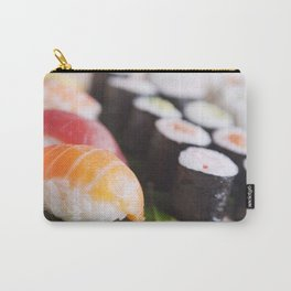 Close-up of various Japanese sushi, shallow depth of field Carry-All Pouch