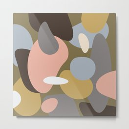 Swept Away Shapes Minimal Abstract Metal Print