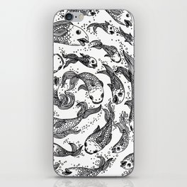 swimming in circles iPhone Skin