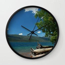 Serene McDonald Lake Wall Clock