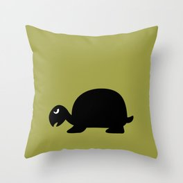 Angry Animals: Tortoise Throw Pillow