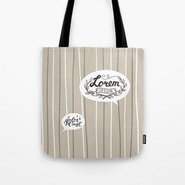Designer SmallTalk Tote Bag