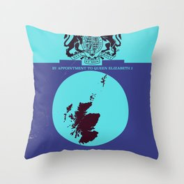 Vintage map cover of Scotland. Throw Pillow