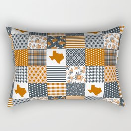 Texas longhorns university quilt pattern gifts sports fan varsity football fan Rectangular Pillow