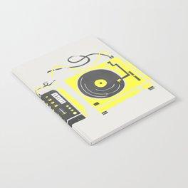 DJ Vinyl Decks And Mixer Notebook