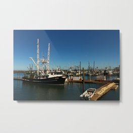 Westport Harbor Scene Metal Print