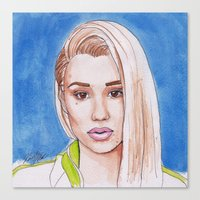 iggy Canvas Prints featuring Iggy by Kaitlin Polak